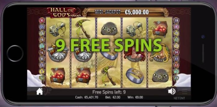 Hall of Gods free spins mobiilikasino