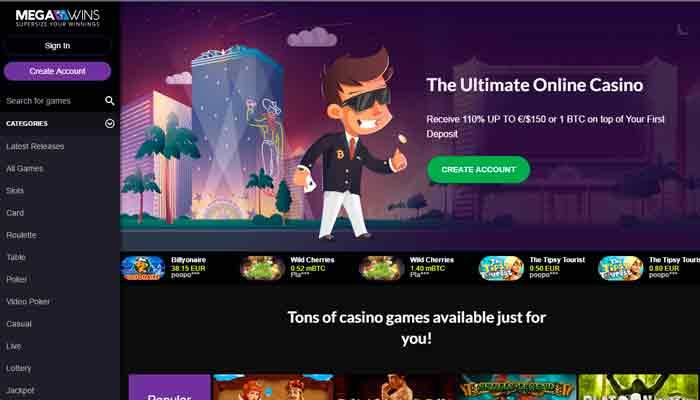 Mega Wins kasino